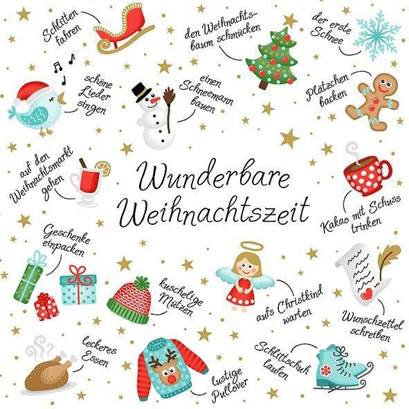 Servietten Weihnachten Winterfreuden 33 x 33 cm