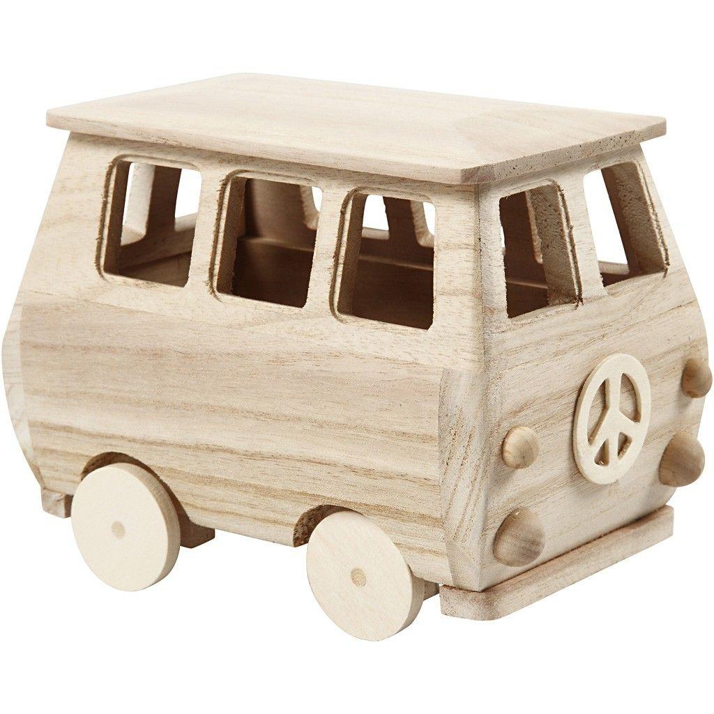 Holz Minibus 17 x 10 x 13 cm