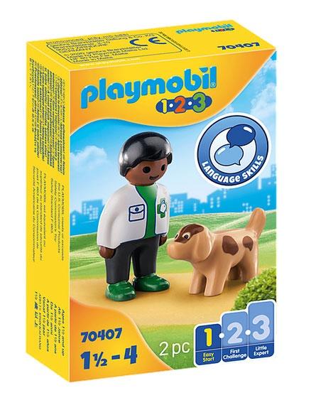 Playmobil 70407 1.2.3 Tierarzt mit Hund