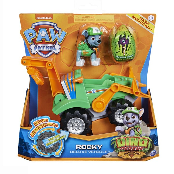 Paw Patrol Dino Rescue Rocky Deluxe Vehicle