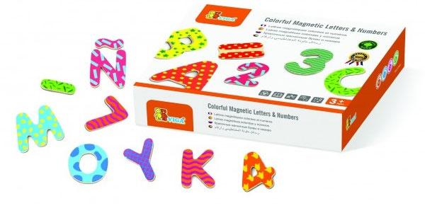 Buchstaben und Zahlen aus Holz magnetisch 77 Teile