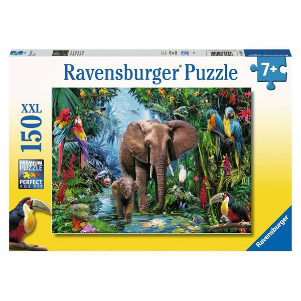 Ravensburger Puzzle Dschungelelefanten 150 Teile