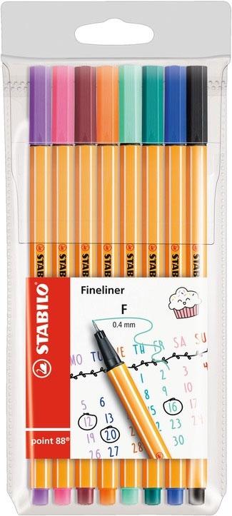 Stabilo Tintenschreiber point 88 pastel 8 Farben Set