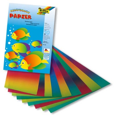 Folia Regenbogenpapier 10 Blatt