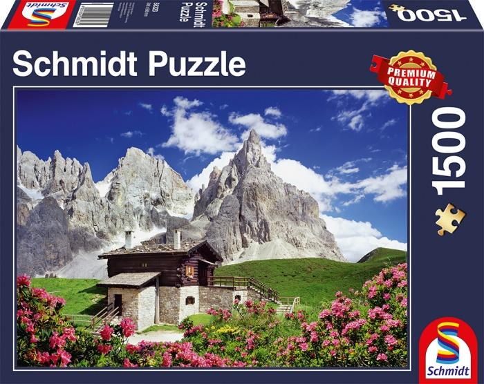 Schmidt Spiele Puzzle Segantinihütte Dolomiten 1500 Teile