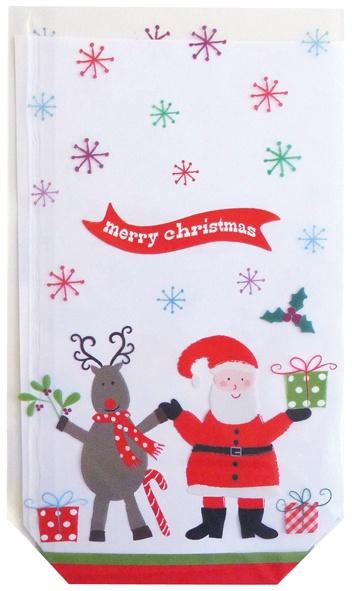 Geschenk Bodenbeutel Weihnachten Rentier und Santa