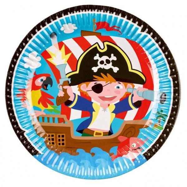 Partyteller Pirat 8 Stück