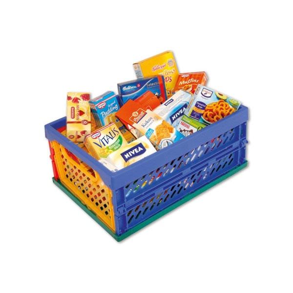 Kaufladenzubehör Mini-Klapp Box gefüllt von Tanner