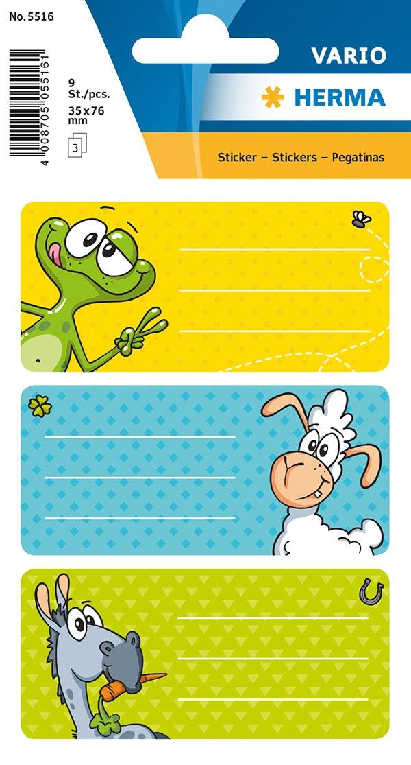 Herma Buch-Etiketten Witzfiguren