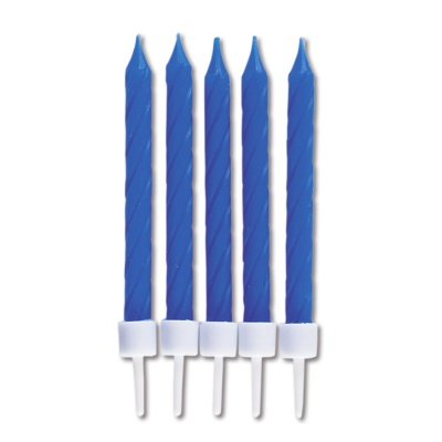 Kerzen blau mit Halter