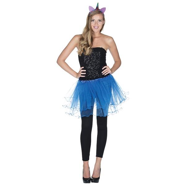 Kostüm-Zubehör Tüllrock blau