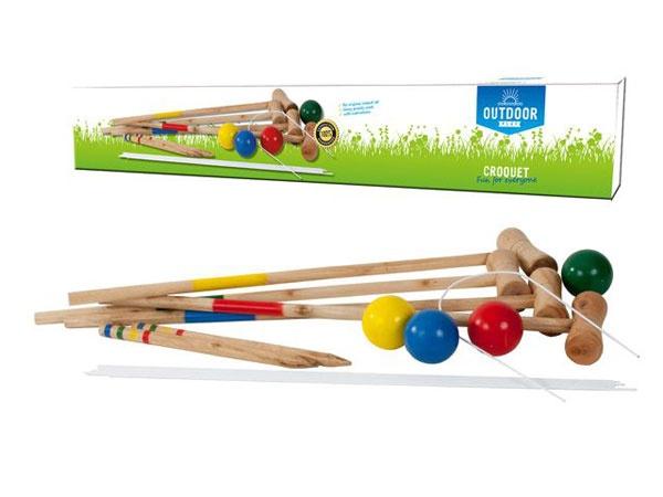 Krocket-Set für 4 Spieler 75 cm