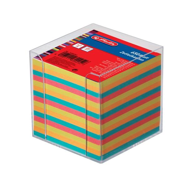 Notizklotz farbig mit Box 650 Blatt von Herlitz