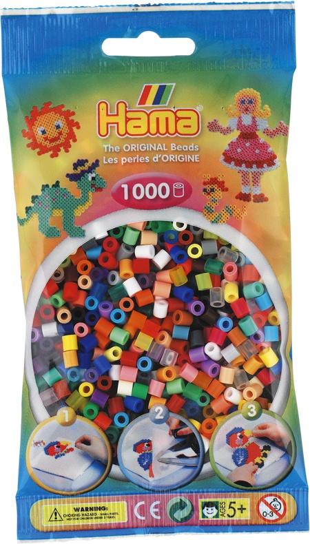 Hama Bügelperlen 1000 Stück Mix aus 48 Farben