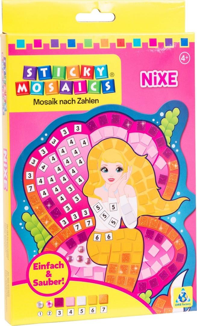 Bastelset Sticky Mosaik nach Zahlen Nixe