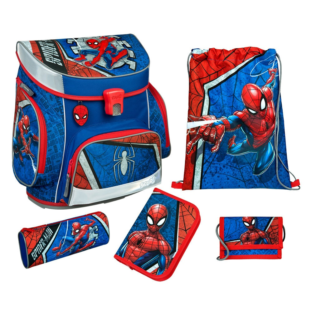 Scooli Schulranzen-Set Campus Fit Spider Man