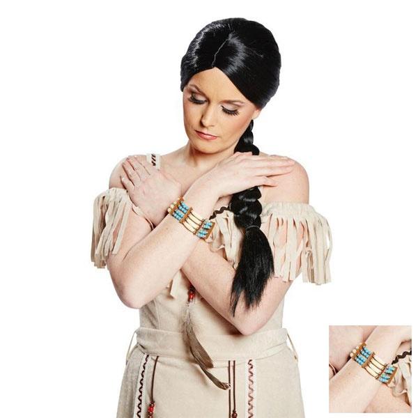 Kostüm-Zubehör Indianer Armband