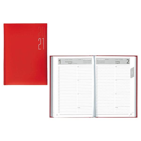 Idena Buchkalender (Kalender) A5 Matra rot 2021