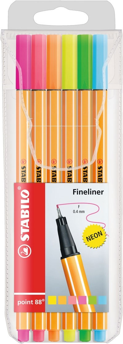 Stabilo Fineliner point 88 neon 6er Etui