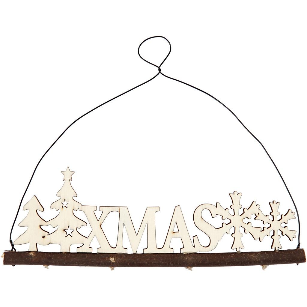 Weihnachtsdekoration Schriftzug XMAS