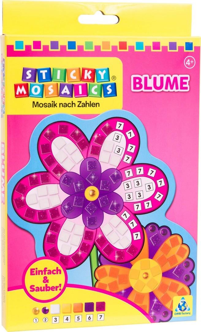Bastelset Sticky Mosaik nach Zahlen Blume