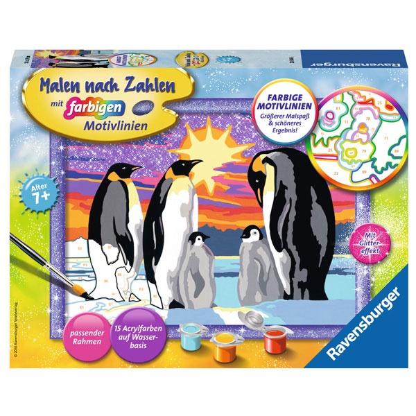 Malen nach Zahlen  Pinguinfamilie