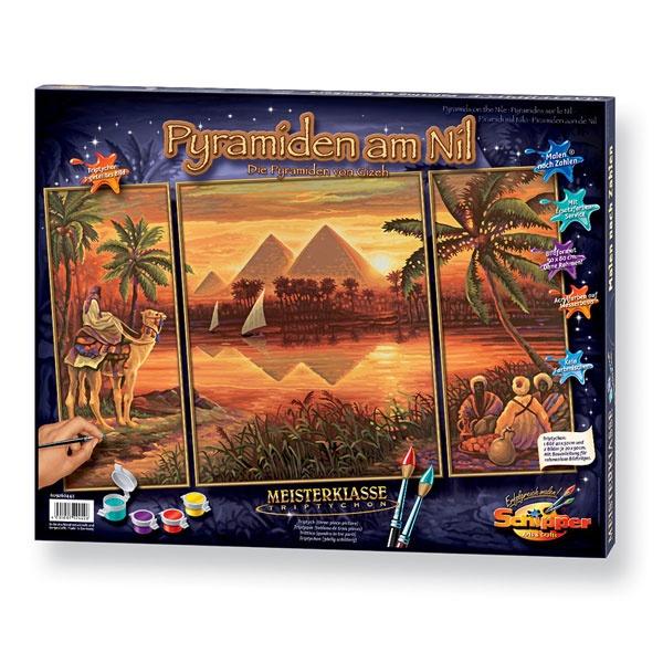 Schipper Malen nach Zahlen  Pyramiden am Nil (Triptychon)
