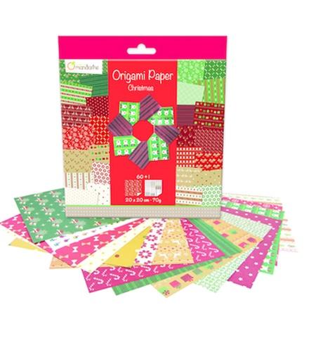Avenue Mandarine Origami Papier 20 x 20 cm Christmas