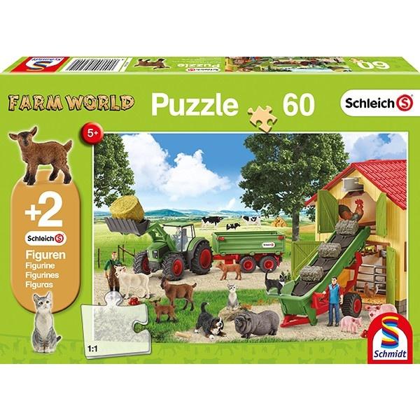 Schmidt Spiele Puzzle Heueinfahrt auf dem Bauernhof 60 Teile