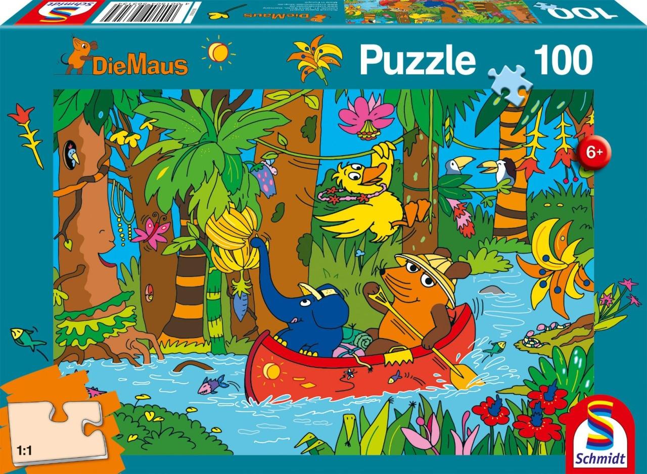 Schmidt Spiele Puzzle Die Maus Im Dschungel 100 Teile