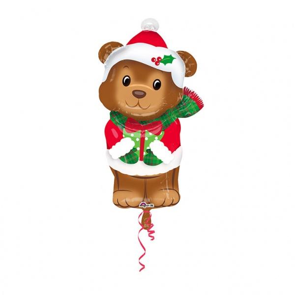Weihnachten Folienballon Junior Shape Weihnachtsbärchen
