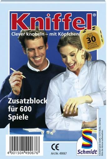 Kniffelblock von Schmidt Spiele