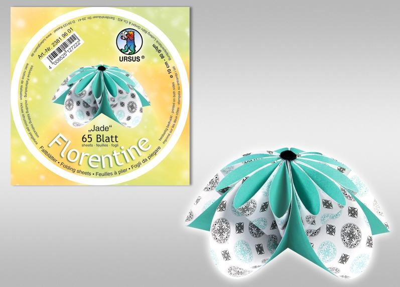 Florentine-Faltblätter Jade, 10cm rund