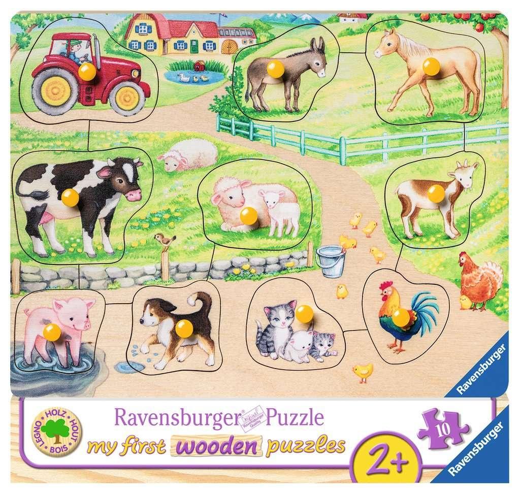 Ravensburger My First Holzpuzzle Morgens auf dem Bauernhof