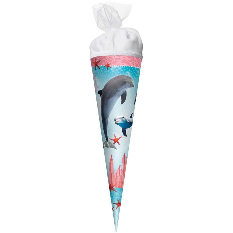 Roth Schultüte Delfin mit Seesternen 50 cm