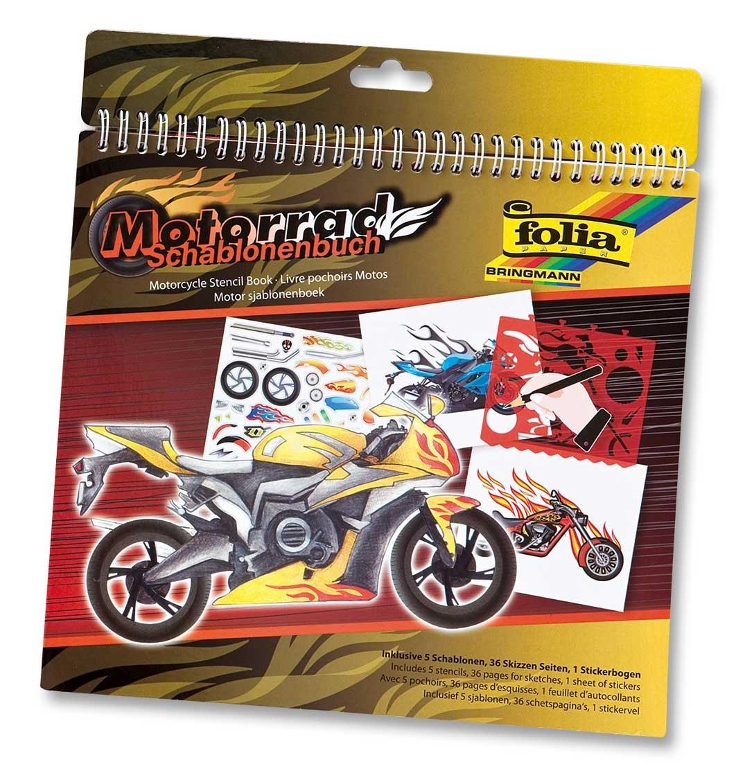 Folia Schablonenbuch Motorrad