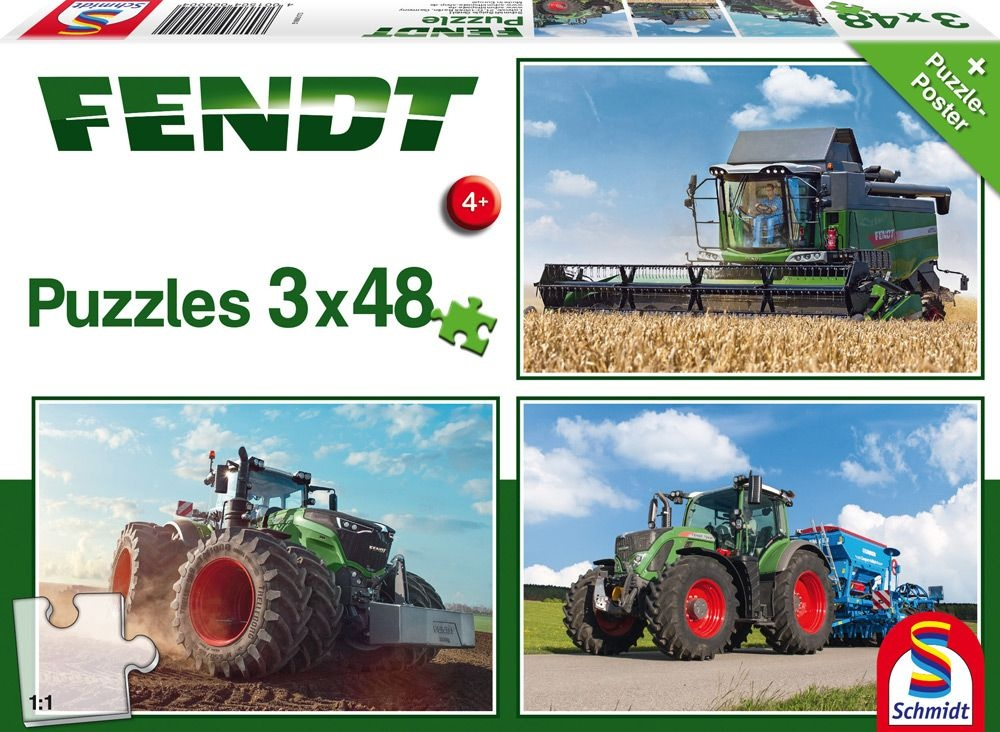 Schmidt Spiele Puzzle Fendt 1050 725 6275L 3 x 48 Teile