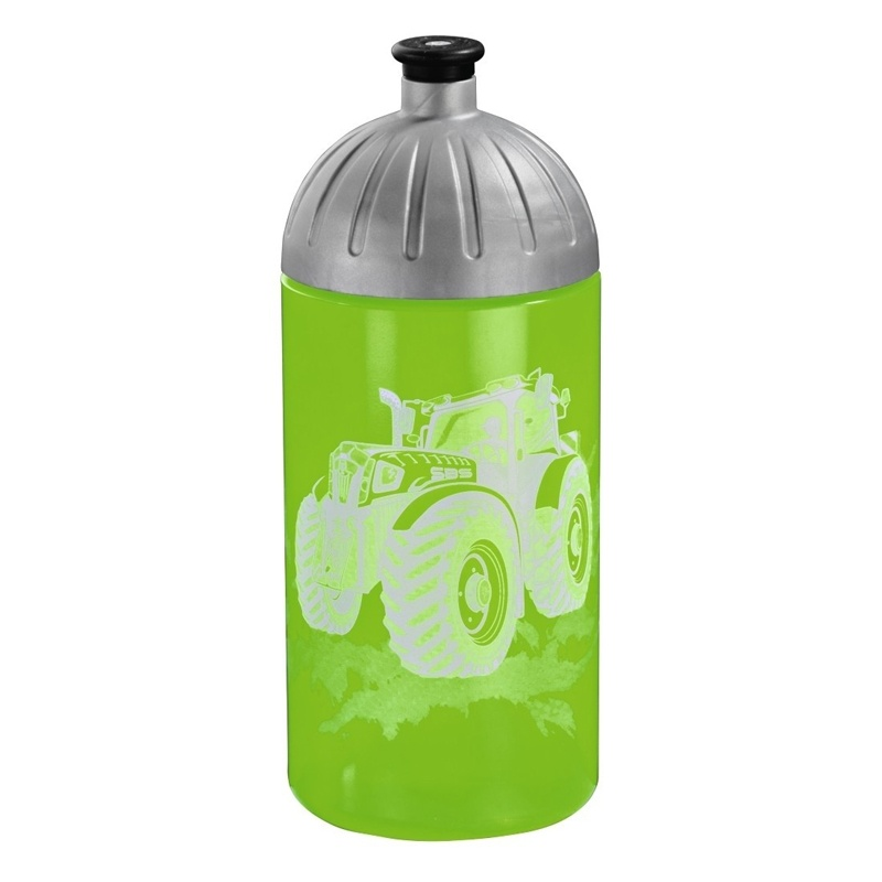 Step by Step Green Tractor Trinkflasche