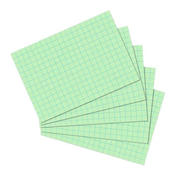 Karteikarten A6 100 Stück kariert grün