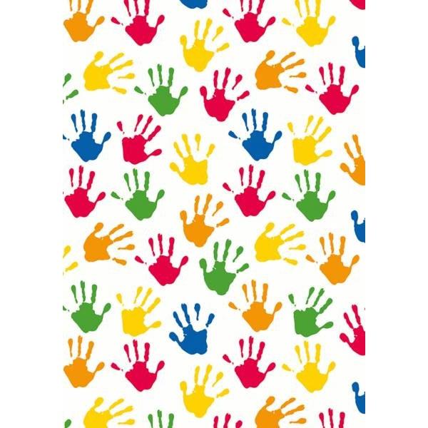 Geschenkpapier Hands, weiß