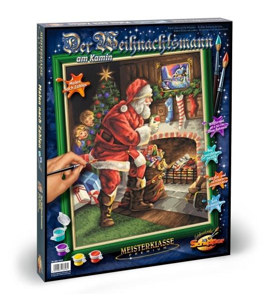 Schuipper Malen nach Zahlen Weihnachtsmann am Kamin