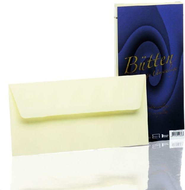 Briefumschlag Bütten imitiert 25 Stück ivory DIN lang