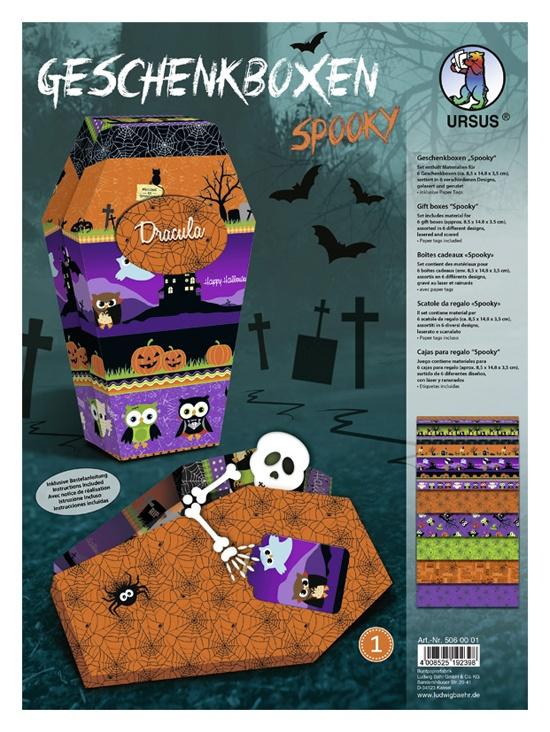 Bastelmappe Geschenkboxen-Set  Spooky Sortierung 1