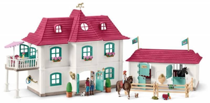 Schleich Horse Club Pferdehof mit Wohnhaus und Stall