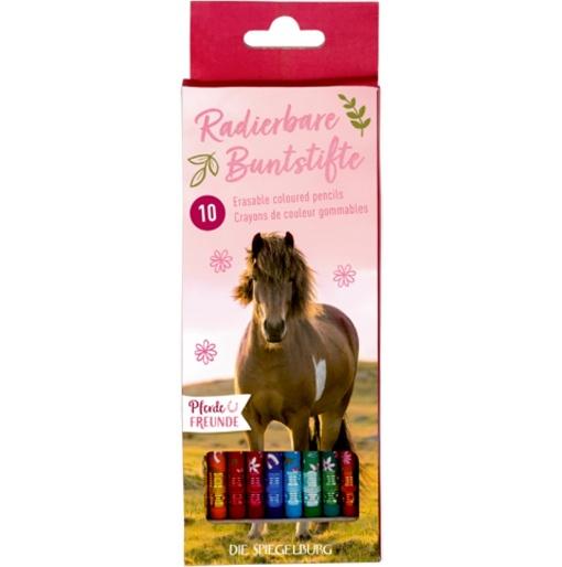 Spiegelburg Pferdefreunde Radierbare Buntstifte 10 Stück