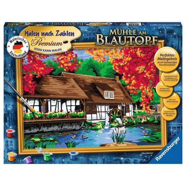 Ravensburger Malen nach Zahlen Mühle am Blautopf