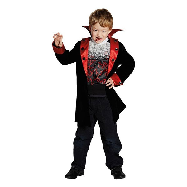 Kostüm Graf Dracula schwarz-rot 140