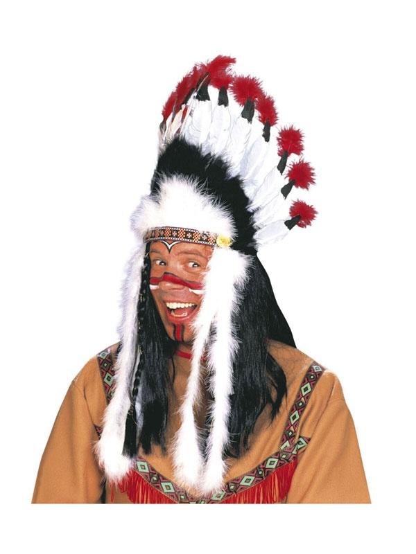Kostüm-Zubehör Indianerhaarschmuck Wilder Stier