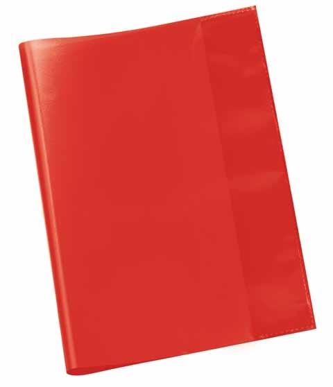 Hefthülle A5 rot transparent