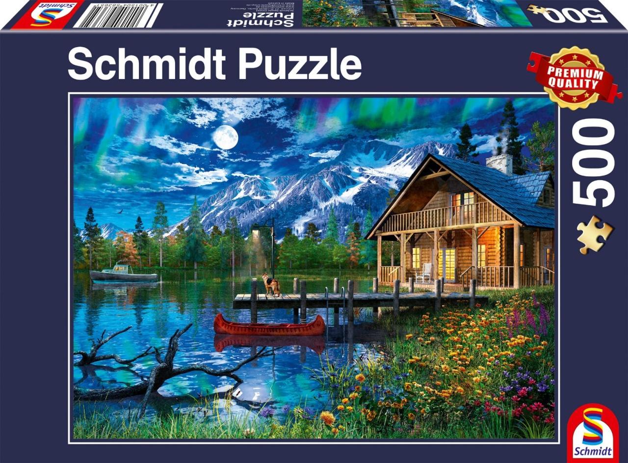 Schmidt Spiele Puzzle Bergsee im Mondlicht 500 Teile